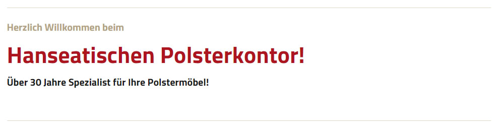 Polster für Hamersen - Hanseatisches Polsterkontor: Ledermöbel Reparatur, Möbelreparatur, Möbel Aufpolsterung, ..